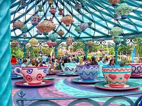 аттракцион веселые чашки для парки