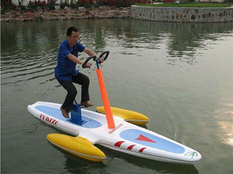 водный велосипед катамаран одиночный купить аттракцион