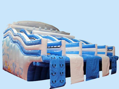 Аттракцион водные надувные горки