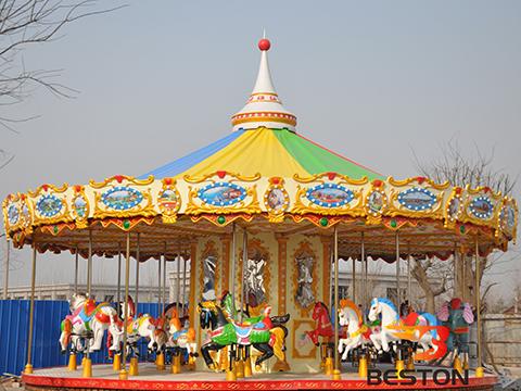 Аттракцион карусель с лошадками купить для парка